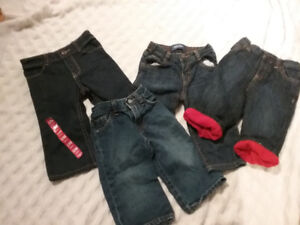 4 Pairs Baby Jeans old Navy sz 9- 12 mths EUC Look!