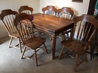 Sheesham dining table £50 /6 oak solid wood chairs farmhouse £110