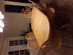 Solid Birch Oval Dining Set