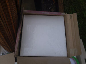 "Box of Square 8"" White Tiles"