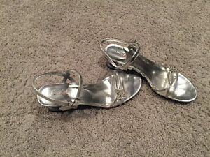 Girls Size 5 Silver Dress Shoes