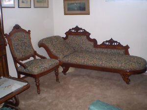 Chaise Longue  and Chair