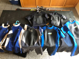 Assorted Wetsuits - Child to XL