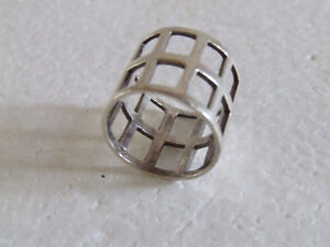 Sterling Silver stamped ring Size 8 London Ontario image 4