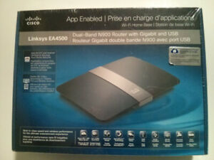 NEW Linksys EA4500 Dual Band N900 Router with Gigabit and USB
