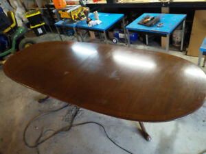 Mahogany finished boardroom table 10ftx4ft
