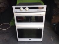 Creda integrated gas double oven and grill.
