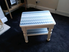Newly upcycled lamp table