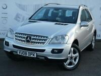 2008 MERCEDES M-CLASS ML420 CDI SPORT 7 GEARTRONIC SAT NAV PARTIAL LACK LEATHER