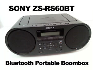 SONY ZS-RS60BT CD Boombox with Bluetooth - $60