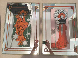 Pair of Vintage Mirror French Cafe Art/Signs London Ontario image 2