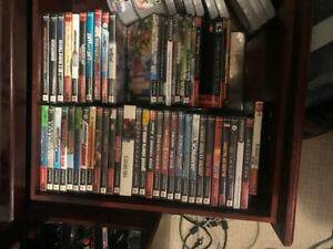 PS2 with games and 4 controllers