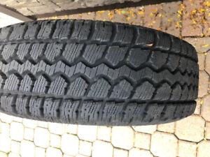 235/70/16 motomaster total  terrain  Winter tires on rims
