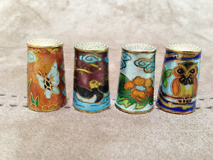 7 Beautiful Cloisonne Thimbles - PRICE REDUCED