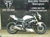 TRIUMPH STREET TRIPLE, 1 LADY OWNER, LOWERED