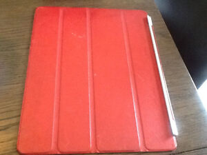 Red leather iPad cover