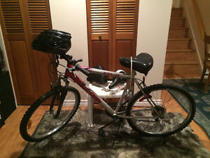 Bike  with helmet and accessories