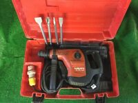 Hilti TE 40 AVR Combi Hammer Drill / Breaker 110v Plus New Chisels