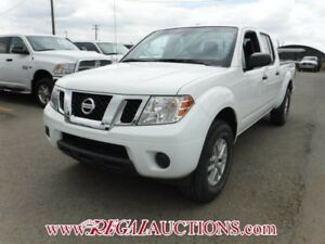 2015 NISSAN FRONTIER SV CREW CAB 4X4 AT 4.0L SV