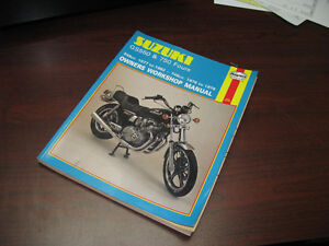 Manual d'atelier Suzuki GS550 GS750 1977 - 1982 Shop manual