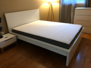IKEA MALM Queen Size Bed Frame (Like New Condition)