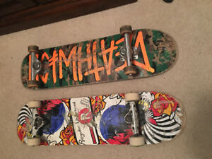 2 skateboards for sale