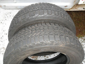 Two 215/70-16 winter tires