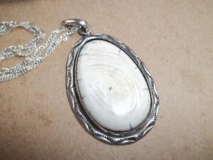 Custom Bone/sterling silver custom bracelet & pendant
