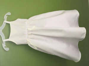Size 2T, WHITE Satin Flower Girl Dress (David's Bridal)