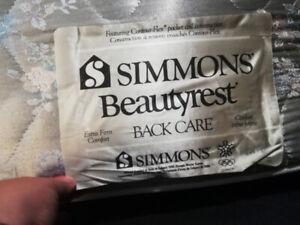 SIMMONS BEUTYREST BACK CARE MATTRESS + IKEA FRAME