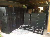 dB technologies line array sound system