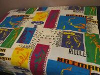 BATMAN FOREVER Movie Comic 1995 Vintage Bed Sheet Jim Carrey
