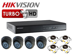 Hikvision IP Security Camera Kit with 4 Channel NVR and 4 x 1080