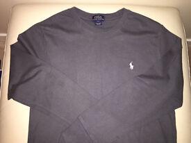 Boys Ralph Lauren T-Shirt Grey Long Sleeved