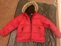 Red puffy jacket size large £5