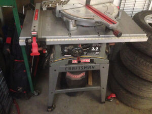 "Craftsman Table Saw and Professional 12"" slide mitre saw"