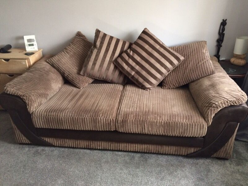 Dfs Destiny Large 4 Seater Sofa Brown Corduroy Excellent Condition