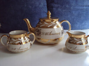 Gibsons Staffordshire England Tea Set (50th Anniversary)