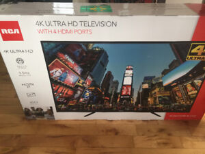"""RCA 50"""" 4K Ultra HD television brand new unopened box"""