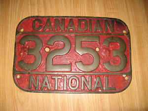 CNR Steam Locomotive Number Plate CN