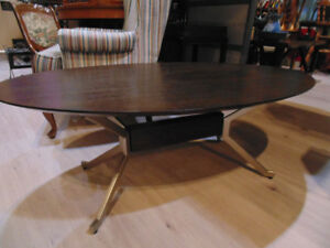Contemporary Wood/Metal Coffee Table (Trail)