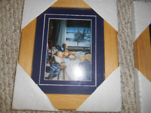 Gypsy Wind set of hockey pictures-framed -new