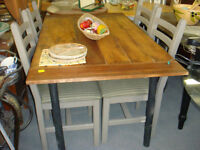 Custom made in Yukon rustic tables mirrors and dressers