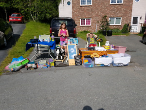 Yard sale baron court off cheameau by cole harbour high