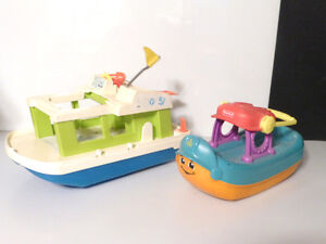 2 Fisher Price BOAT one Vintage
