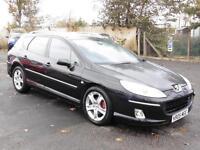Peugeot 407 SW 2.0HDi 136 2005 SE, Black, FSH, 6 Months Warranty