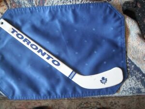 Hockey - Mini Toronto Maple Leafs' Stick in Good Used Condition