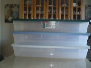 RUBBERMAID UNDER BED STORAGE BOXES $9.00 each
