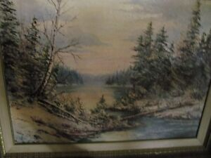 large forest scene in oil---now reduced!!!