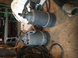 Pompes à eau submersible
